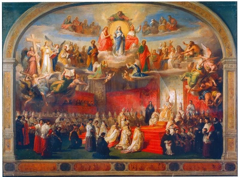 """""""Proclamación del Dogma de la Inmaculada Concepción"""", (Francesco Podesti, Museos Vaticanos)"""