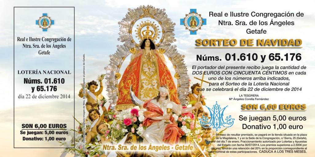 CONGREGACION N SRA DE LOS ANGELES-Loteria 2014-1