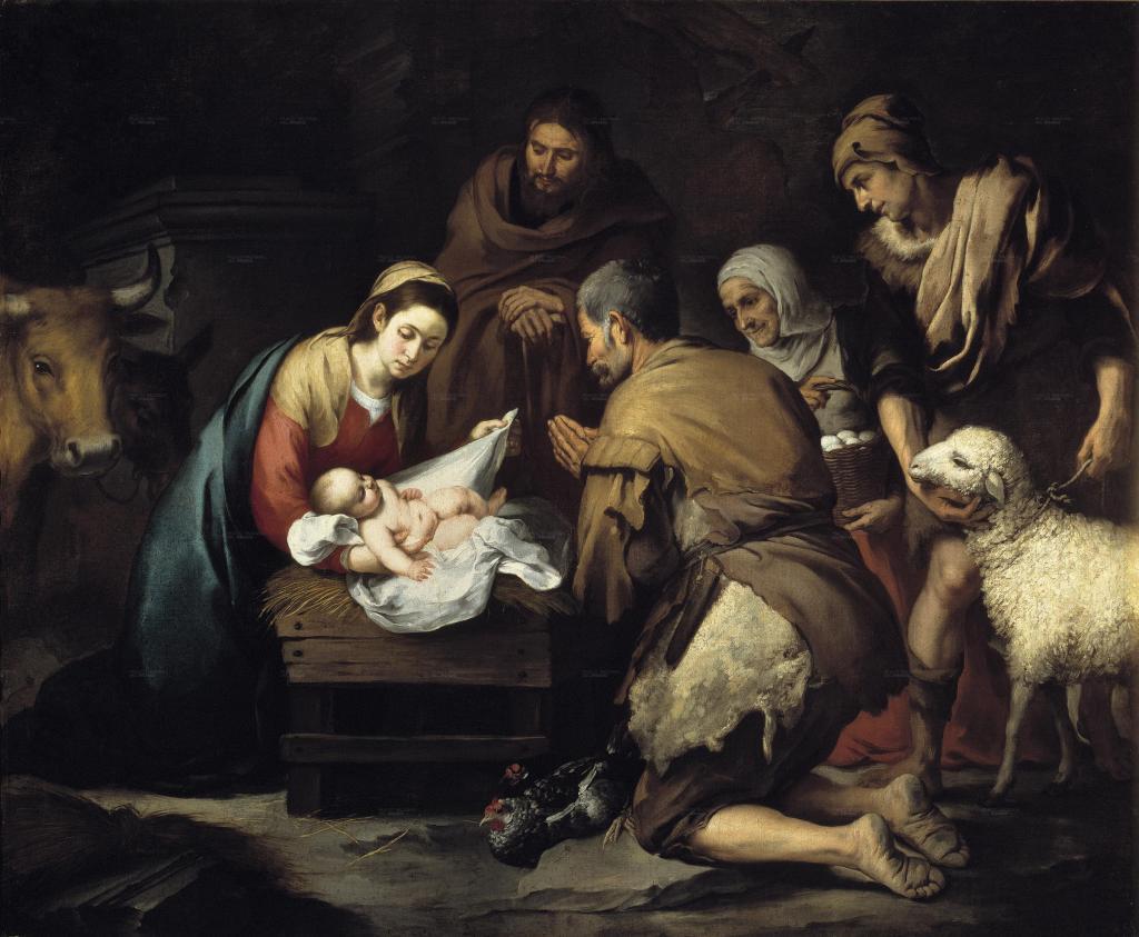 Adoración de los pastores, Bartolomé Murillo 1657