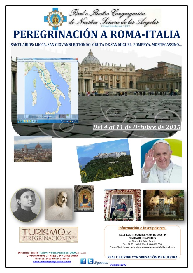 CArtel Peregrinacion Italia 2015