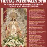 Congregación Virgen de los Ángeles Getafe cartel fiestas 2018