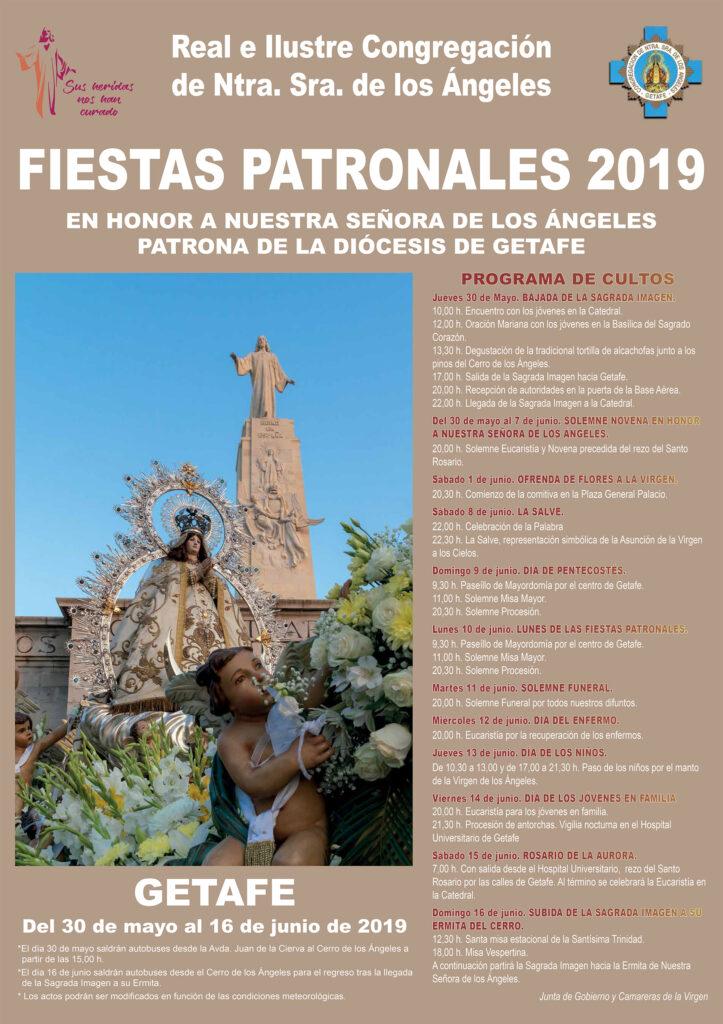 Congregación Virgen de los Ángeles Getafe cartel fiestas 2019
