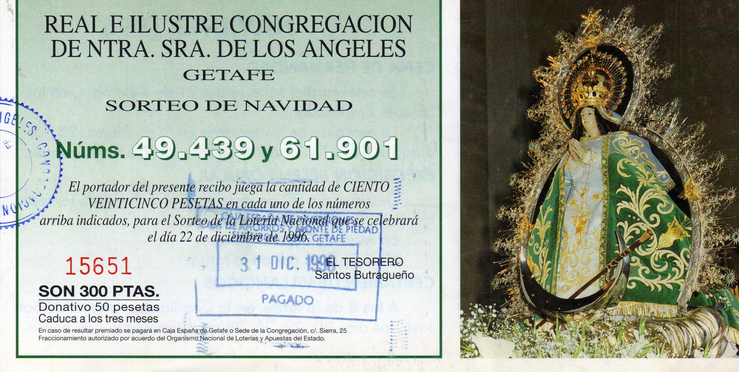 Lotería 1996