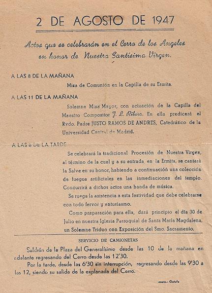 Programa de Culto 1947
