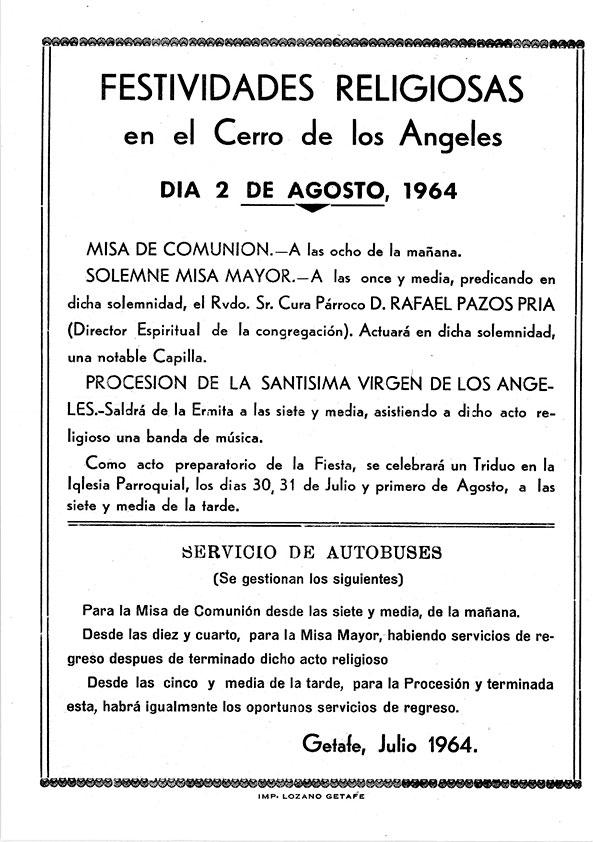 Programa de Culto 1964