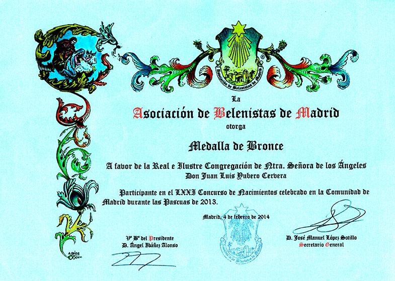 Medalla de Bronce 2013